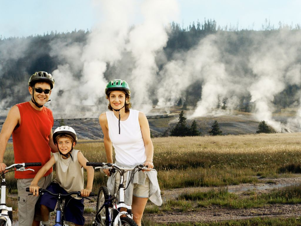 Bike Riding at Old Faithful