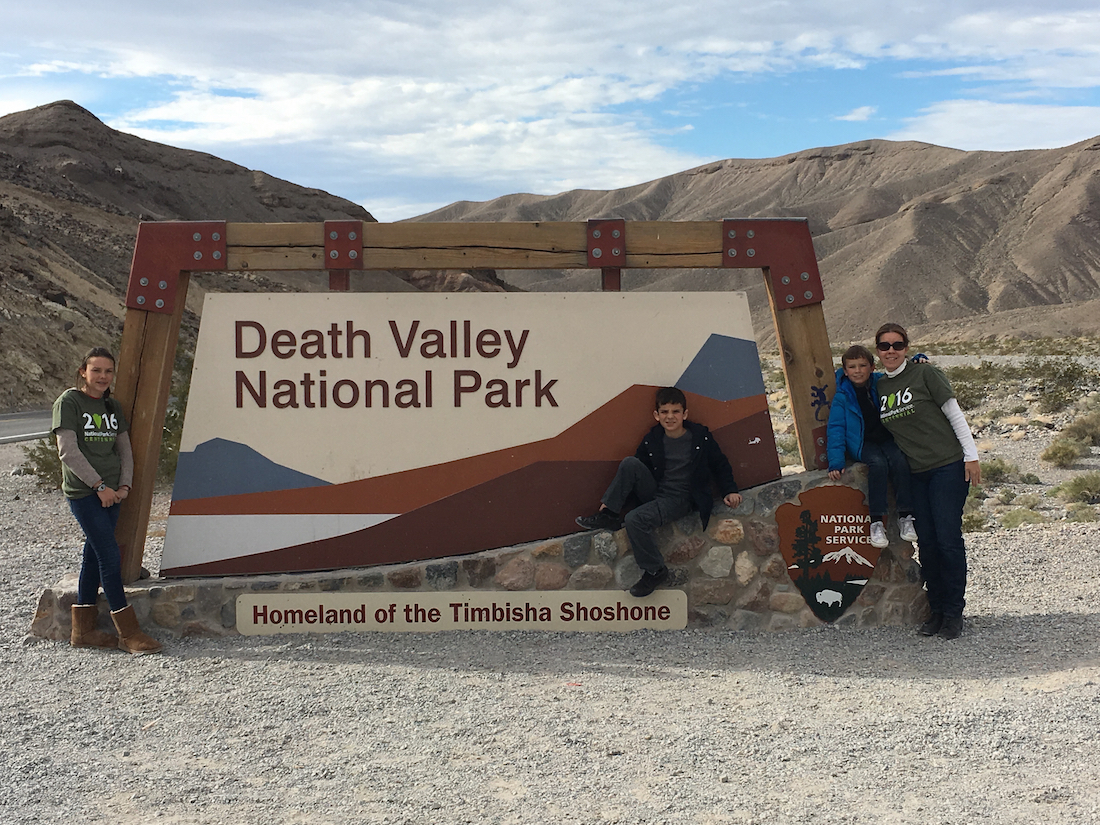 Death Valley National Park sign