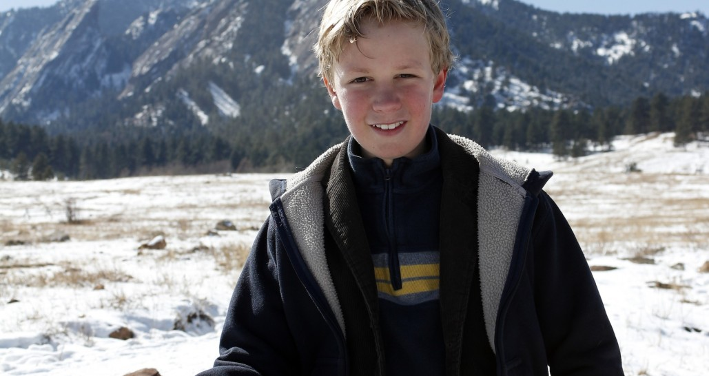 Kid in the mountains