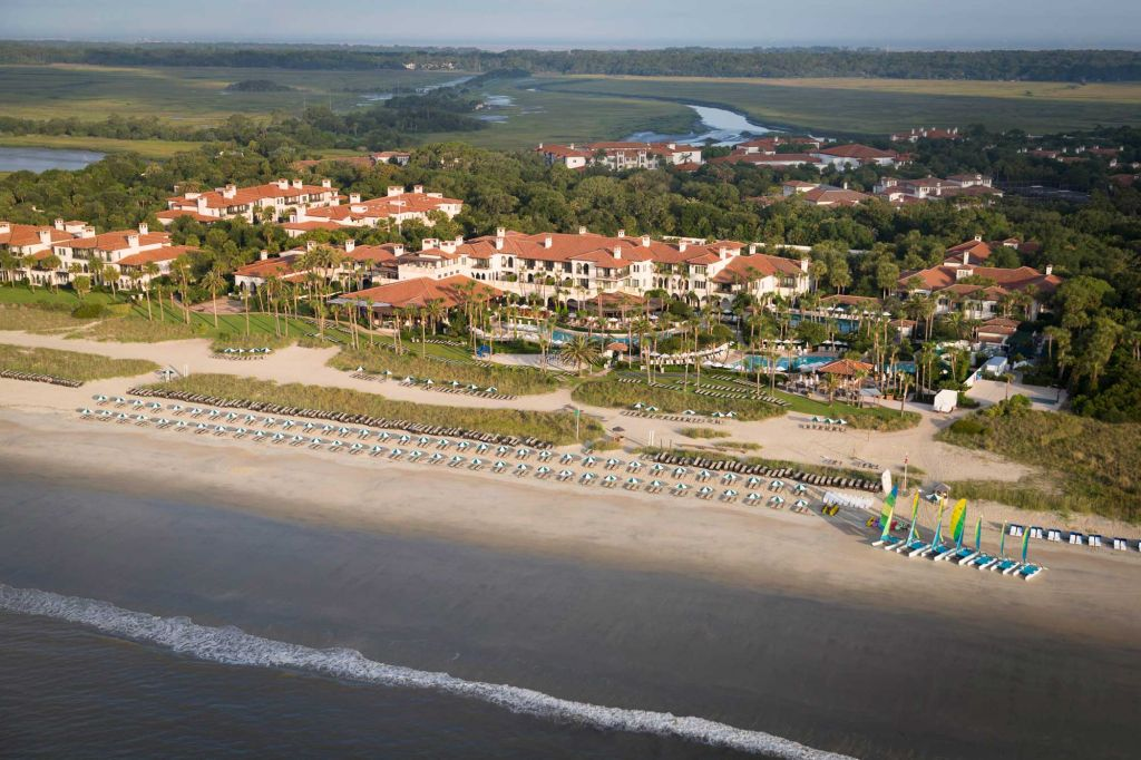 Beach and hotel