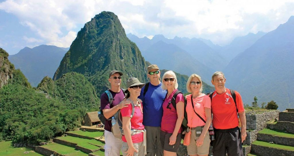 Group of people on machuPicchu