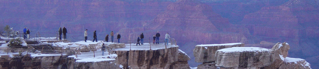 people looking over thegrand canyon