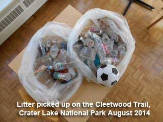 Litter Crater Lake
