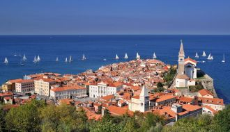City by the sea in Croatia