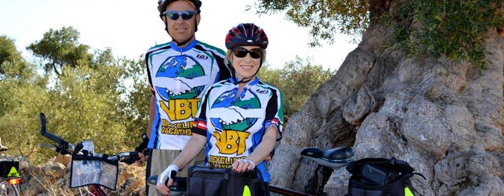 picture of two cyclists wearing vbt shirts