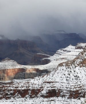 Snow on Grand Canyon