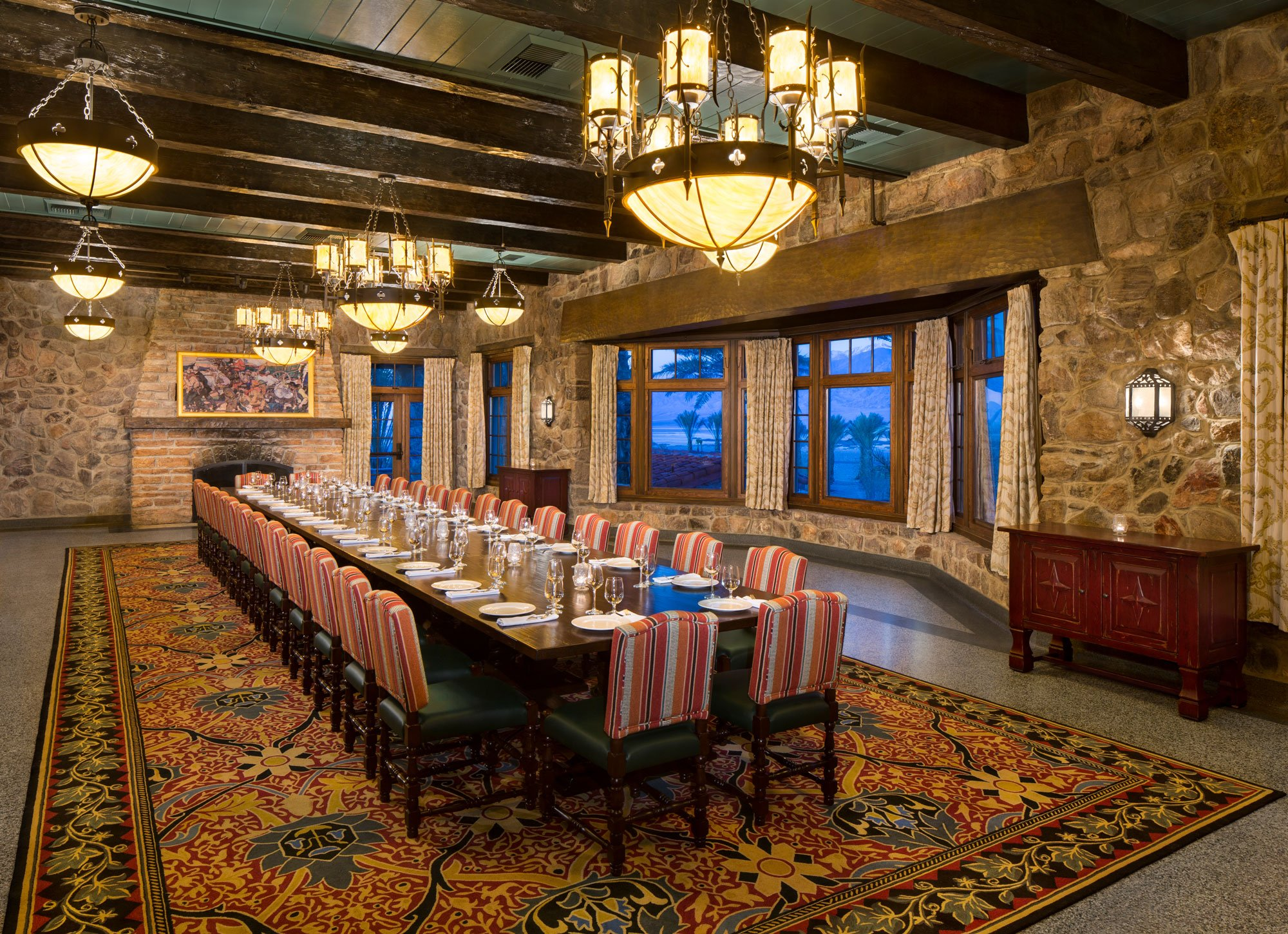 A meeting room in a high-end resort.